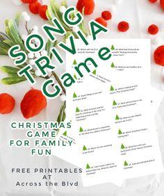 Christmas Song Trivia Game