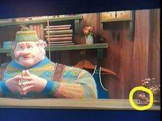 "I think I found an Easter egg in ""Frozen"": in Oaken's shop, there is a wooden carving of Mike Wazowski! (it's hard to get a good screen shot, since its so quick) I'm not sure how this fits into the unified Disney/Pixar theories out there, but it's pretty cool:)"