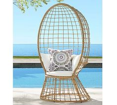 Peacock All-Weather Wicker Chair #potterybarn
