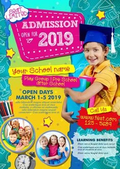 Buy Junior School Admission Flyer by adimasen on GraphicRiver. Junior School Admission Flyer Template Specification RGB and CMYK Color Mode 300 DPI Resolution Size With B. Pamphlet Design, Leaflet Design, School Play, Pre School, Public School, School Template, Flyer Template, School Advertising, School Brochure