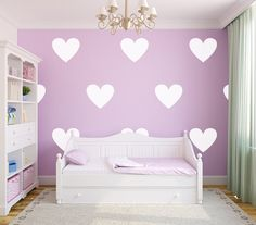Heart Wall Decals by urbanwalls on Etsy
