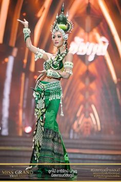 Miss Grand Thailand 2017 'Chaiyaphum' Thailand National Costume, Thailand Costume, Thai Fashion, Weird Fashion, Traditional Thai Clothing, Traditional Dresses, Thailand Festivals, Miss Universe National Costume, Fashion Show Themes