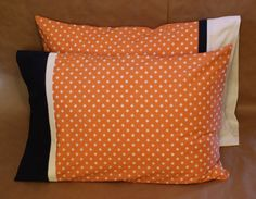 Set of 2 Standard Pillowcases  Orange and by palindromedrygoods on Etsy.