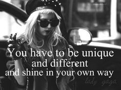 Love me some Gaga :) She definitely isn't afraid to be different!