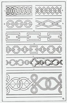 Southwestern borders clip art geometric patterns in - Cenefas para dibujar ...