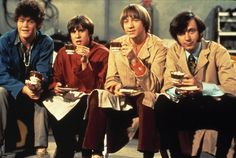The Monkees take a break from filming their classic TV show, circa spring 1968