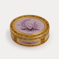 A Louis XVI gold and enamel snuff box, Charles-Alexandre Bouillerot