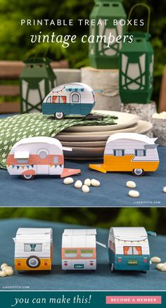 3d Paper Projects, 3d Paper Crafts, Paper Toys, Diy Craft Projects, Diy Crafts For Kids, Diy Paper, 3d Craft, Camping Cards, Decoupage