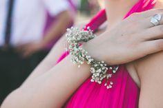 Bracelet Gypsophile pour mes demoiselles d'honneur / Gypsophilia