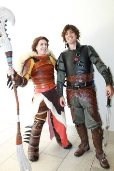 Valka and Hiccup cosplay