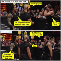 Roman Reigns, Seth Rollins, Dean Ambrose, The Shield credit Jen @ deanambrose.net