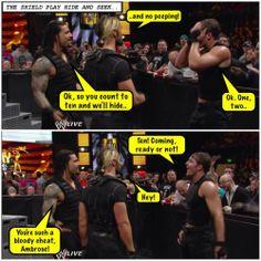 Roman Reigns, Seth Rollins, Dean Ambrose, The Shield credit Jen @ deanambrose.net