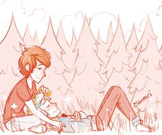 Dipper and Rev!Bill (Will) by elentori-art on tumblr