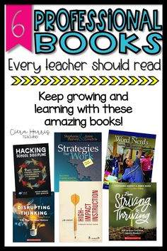 Professional development for teachers doesn't have to come from the school.  I've gathered my six favorite professional teaching books that I believe every teacher should read.  Whether you're wanting to be a better reading teacher, math teacher, or just stronger overall, these teaching books are the best!  Take time to find which teaching book speaks to you and dive in!