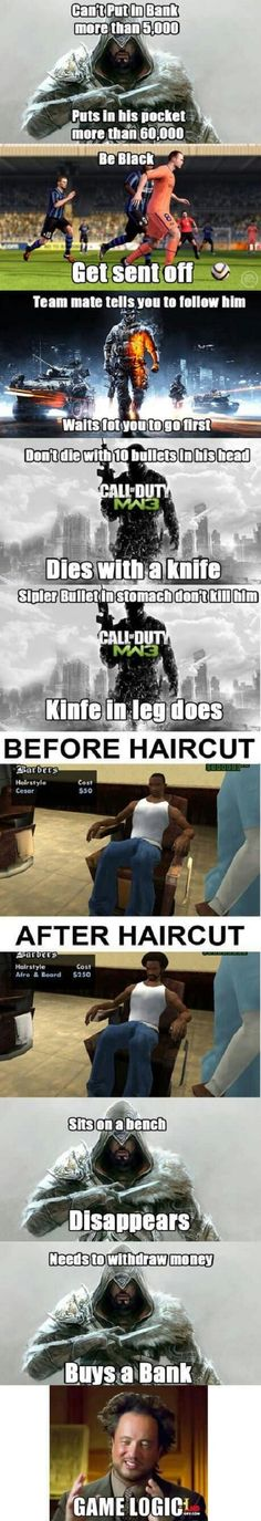 Video game logic // funny pictures - funny photos - funny images - funny pics - funny quotes - #lol #humor #funnypictures