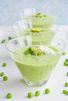 Just because it's summer doesn't mean you can't have soup! This chilled pea soup is perfect for warm days.