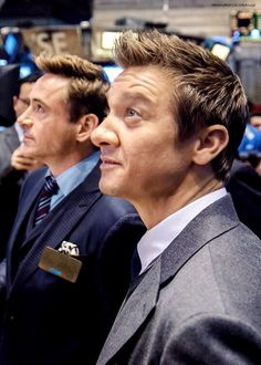 Renner and RDJ at the NYSE