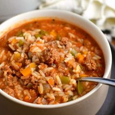 Stuffed Pepper Soup, Stuffed Peppers, Stuffed Mushrooms, Soup Recipes, Cooking Recipes, Casserole Recipes, Dinner Recipes, Macaroni Salad, Sweets