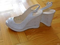 my new shoes on wedge heel <3
