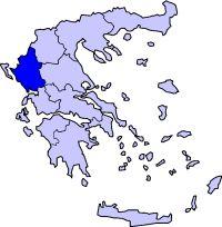Localização do Epiro na Grécia