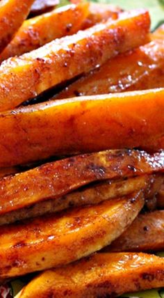 Roasted Sweet Potatoes with Honey & Cinnamon Glaze More