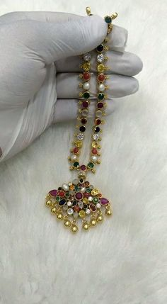 Antique Jewellery Designs, Fancy Jewellery, Gold Jewellery Design, Gold Bangles Design, Pearl Necklace Designs, Jewelry Design Earrings, Gold Earrings Designs, Ruby Necklace, Indian Jewelry Sets