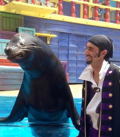 Agrrrrrr you ready for International Talk like a Pirate Day with Clyde and Seamore? #cuteanimal