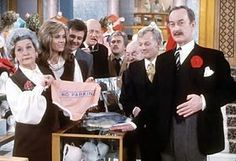 Are You Being Served? (1972-1985), a silly British TV sitcom about workers in clothing department store.