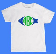 Fish Circle Monogram Personalized Little by designstudiosigns, $24.00