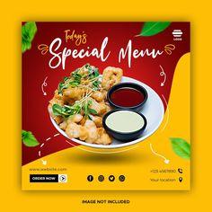 Food Graphic Design, Food Menu Design, Food Poster Design, Medias Red, Shop Banner Design, Food Template, Food Banner, Ads Creative, Food Backgrounds
