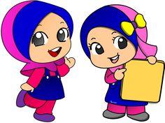 Cartoon Kids, Cartoon Art, Doodle Girl, Islamic Cartoon, Anime Muslim, Hijab Cartoon, Kids Around The World, Fairy Figurines, Muslim Girls