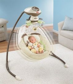 The Fisher Price My Little Snugabunny Swing is the top and more popular baby swing for parents. It can help your babe to sleep.