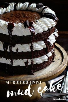 The Chocolate Cake with Chocolate Ganache, Kahlua Whipped Cream and Oreo is the definition of indulgent baking! Welcome to a jazzed up Mississippi Mud Cake! It's a simple homemade dessert best for birthday celebrations. Amazingly creative cake and easy to make!