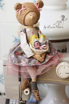 Чудесные интерьерные куклы Lucia Rosca. | Игрушки | Постила