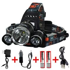 Keku LED High Power Headlamp Rechargeable Waterproof Head Flashlight Lamp with 3 Xm-l T6 4 Modes ** READ REVIEW @ http://www.usefulcampingideas.com/store/keku-led-high-power-headlamp-rechargeable-waterproof-head-flashlight-lamp-with-3-xm-l-t6-4-modes/?b=7504