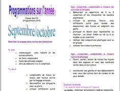 Programmations PS nouveaux programmes chez Katia - école petite section Maternelle Grande Section, New Program, Parenting Memes, Programming, Meant To Be, Voici, Blog, School, Parents
