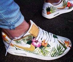 shoes tropical palm tree print nike air max