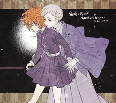 The Promised Neverland Anime Couples Manga, Manga Anime, Anime Art, Manga Illustration, Illustrations, Kamigami No Asobi, Shingeki No Bahamut, Fanart, Anime Crossover