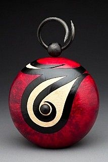 Rock painting inspiration - Contemporary Gourd Art by The Browning House/