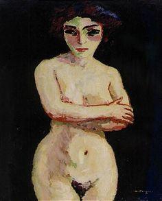 Kees van Dongen - NU SUR FOND NOIR, oil on canvas
