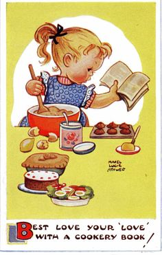 Girl Best Love with a Cookery Book
