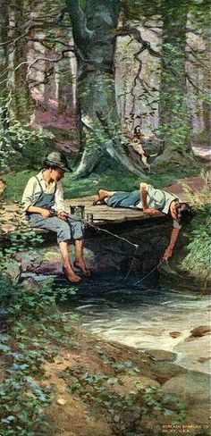 """""""Days Of Real Sport"""".   - """"Looking at the quiet flowing stream rather than at the intrusive cellphone screen"""""""