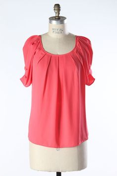 Step into Spring with this fabulous, lightweight, wrinkle free Elle Top. $24 http://www.modestpop.com/products/elle-top-coral