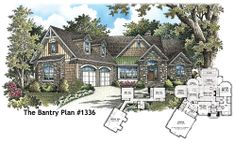 The Bantry Plan 1336 is NOW AVAILABLE! This two story Craftsman plan includes a spacious kitchen, 4 bedrooms, a walk in pantry, extra storage, tons of outdoor living space, and a huge bonus room! See it here: http://www.dongardner.com/plan_details.aspx?pid=4526 #New #HousePlan #Design