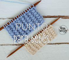 Un #punto para #tejer ropa de #bebé, fácil (sólo 2 vueltas y 2 pasos), con textura y el #patrón para una #manta en #dosagujas!! #soywoolly #tricot