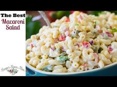 Best Fruit Salad Recipe With Honey Lime Dressing Build . Red Sauce Pasta Recipe Pasta In Red Sauce Recipe . Easy Weeknight Dinner Recipes The Idea Room. Healthy Pastas, Healthy Dinner Recipes, Cooking Recipes, Salad Recipes Video, Pasta Salad Recipes, Easy Macaroni Salad, Southern Macaroni Salad, Asian, Soup And Salad