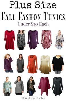 Plus Size Fall Fashion is here with 15 Affordable Plus Size Fall Fashion Tunics…