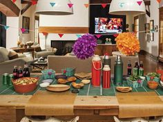 Plan Ahead for Parties - 12 Kitchen Organization Tips From the Pros on HGTV:Set the table, do flower arrangements and tablescape a day in advance. Label trays, platters and serving bowls with sticky notes to identify what's to be placed in each.