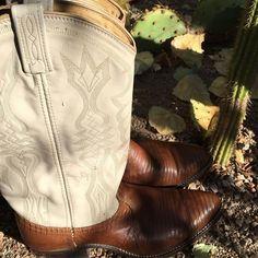 Dan Post Shoes - DAN POST Lizard & Leather Cowboy Boots