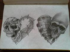 Skull heart art